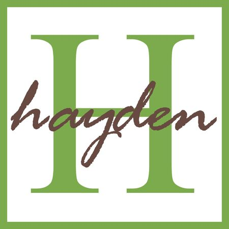 Hayden Name Monogram