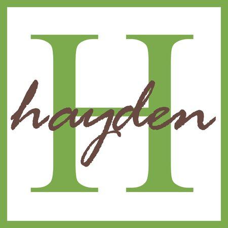 hayden: Hayden Name Monogram