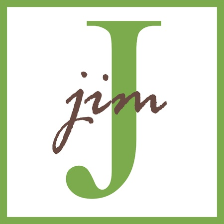 Jim Naam Mongram Stockfoto