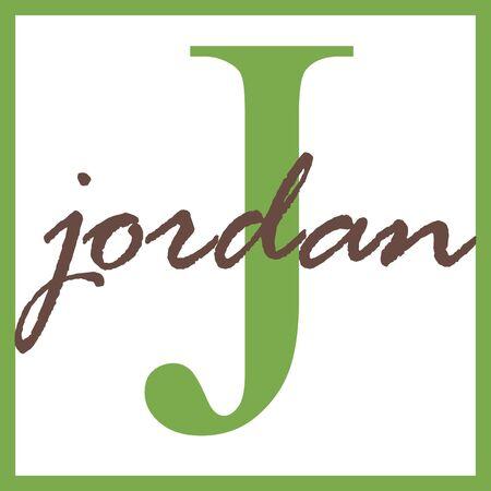 Jordan Naam mongram