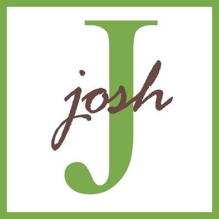 Josh Naam mongram Stockfoto