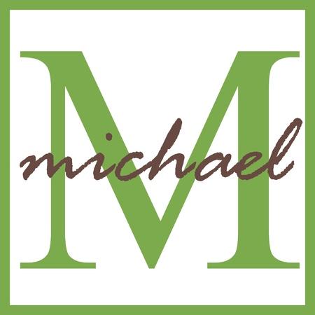 Michael Name Mongram Banco de Imagens