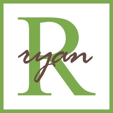 Ryan Naam Mongram Stockfoto - 14838369