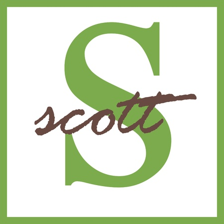 Scott Name Mongram Stock Photo