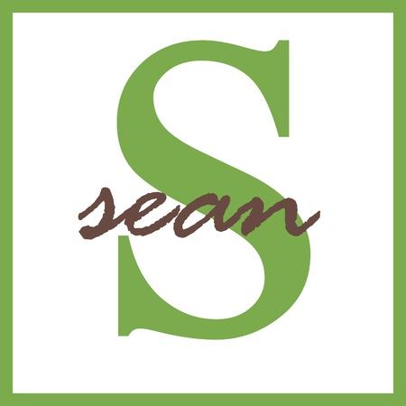sean: Sean Nome Mongram Archivio Fotografico