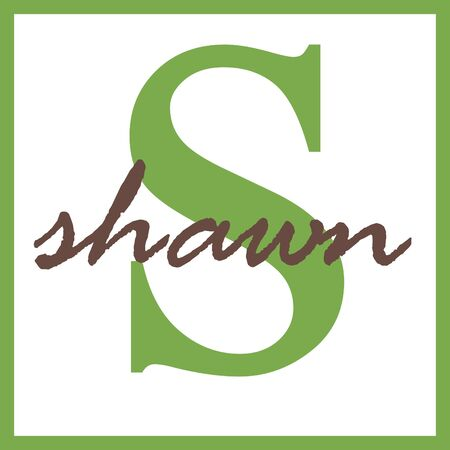 Shawn Name Mongram Фото со стока
