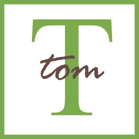 Tom Naam van het Monogram Stockfoto