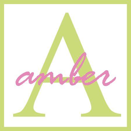 Amber Name Monogram Фото со стока