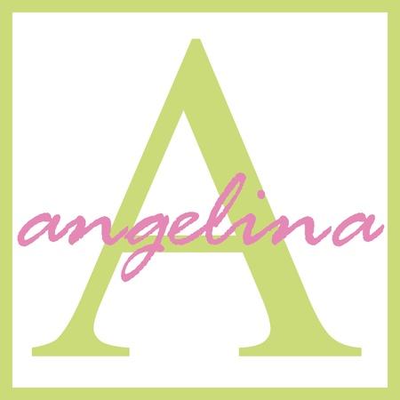 Angelina Naam Monogram Stockfoto - 14838370