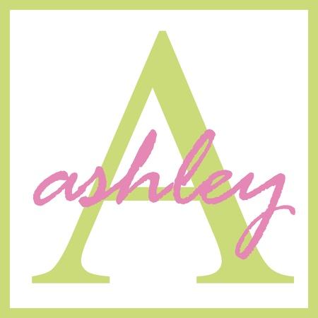 Ashley Name Monogram Stockfoto - 14838379