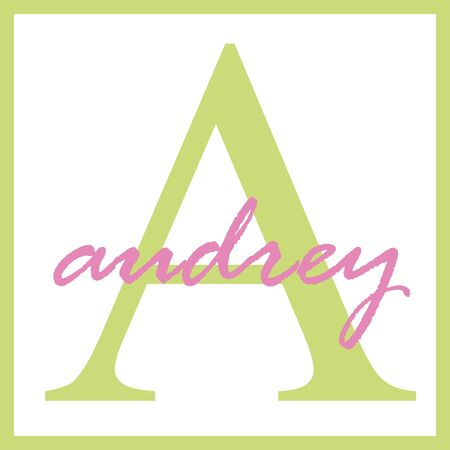 Audrey Name Monogram