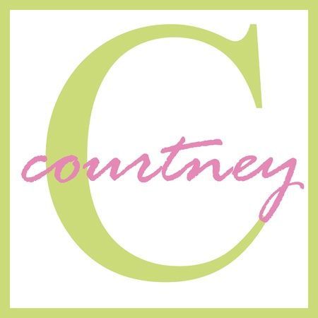 Courtney Name Monogram Stockfoto - 14838367
