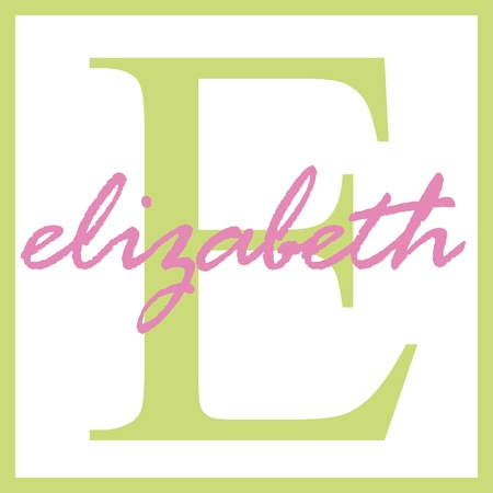 Elizabeth Name Monogram Stock Photo
