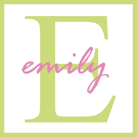 Emily Name Monogram Stockfoto - 14837940