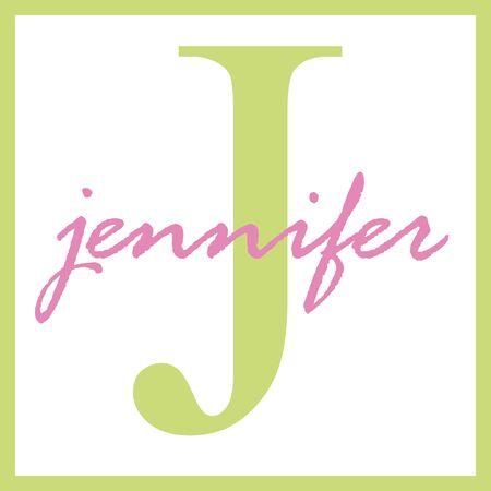 jennifer: Jennifer Name Monogram Stock Photo