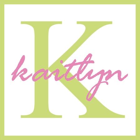 Kaitlyn Naam Monogram Stockfoto