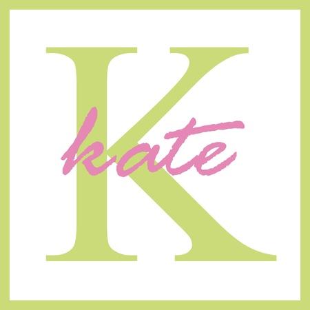 Kate Naam van het Monogram Stockfoto - 14837936