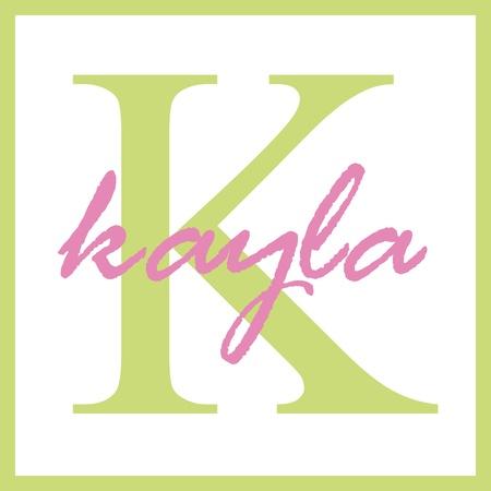 Kayla Naam Monogram Stockfoto
