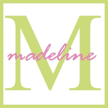 Madeline Naam Monogram Stockfoto