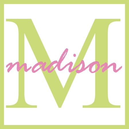 Madison Naam Monogram Stockfoto - 14838375