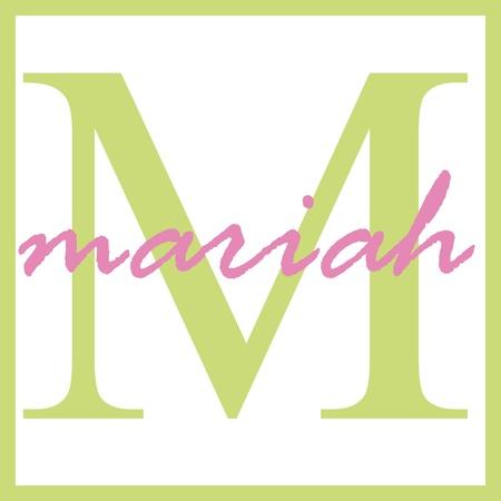 Mariah Name Monogram Stockfoto - 14838372