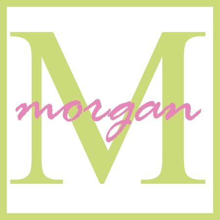 Morgan Naam Monogram Stockfoto