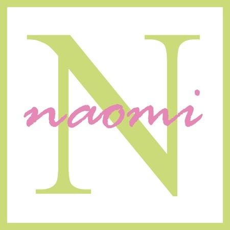 Naomi Naam van het Monogram Stockfoto - 14837938