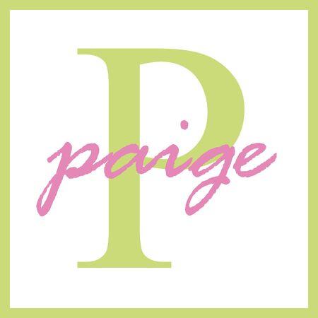 Paige Naam van het Monogram Stockfoto - 14837946