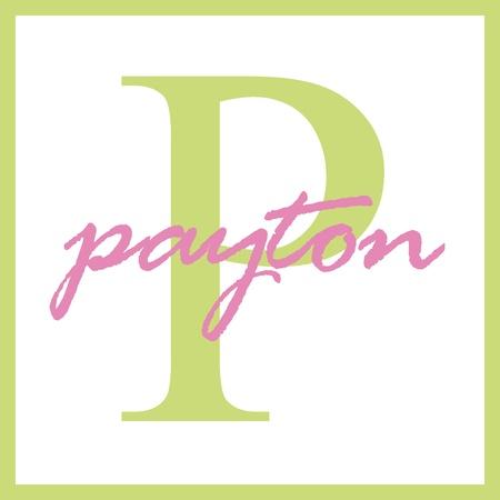 Payton Naam Monogram Stockfoto