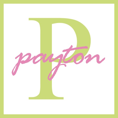 Payton Name Monogram photo