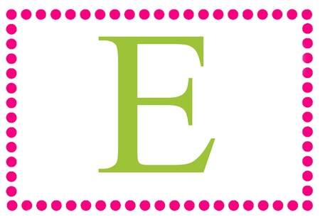 Rectangular Dots Monogram E