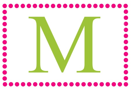 Rectangular Dots Monogram M