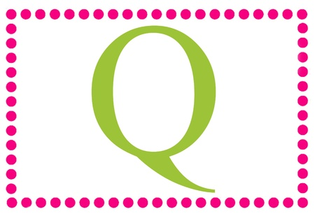 Rectangular Dots Monogram Q