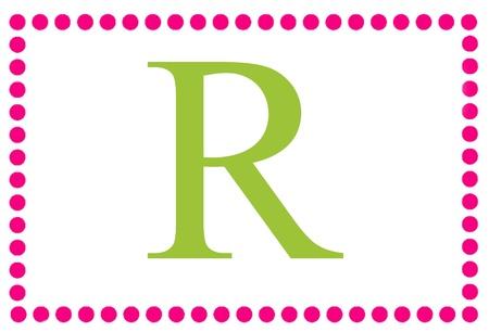 Retangular monograma R Dots
