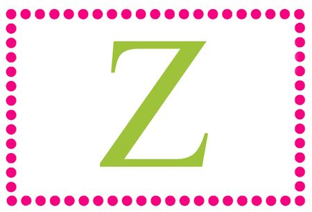 Rectangular Dots Monogram Z