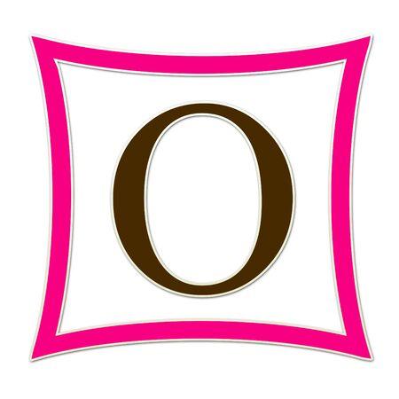 O Monogram Pink   Brown