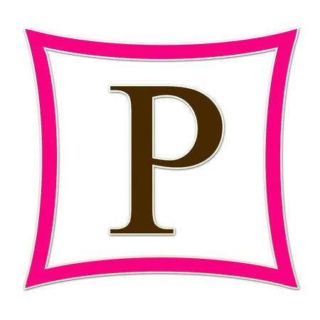 P Monogram Pink   Brown Banco de Imagens
