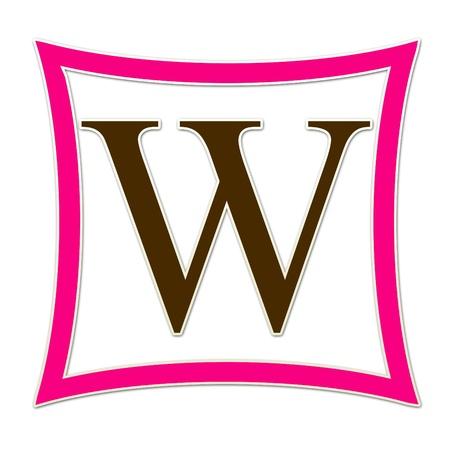 W Monogram Pink   Brown