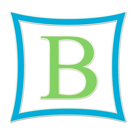B  Monogram Blue and Green
