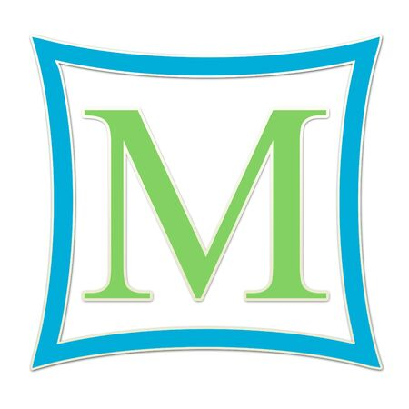 M  Monogram Blue and Green