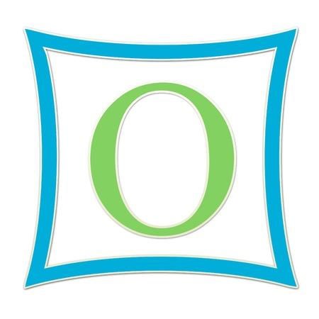 O  Monogram Blue and Green