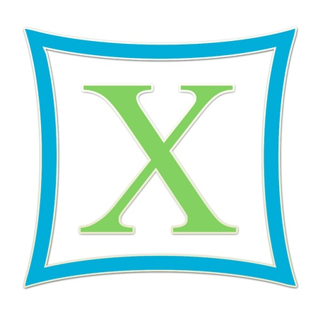 X  Monogram Blue and Green