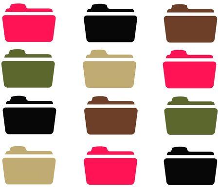 12 Camo Girl Folders