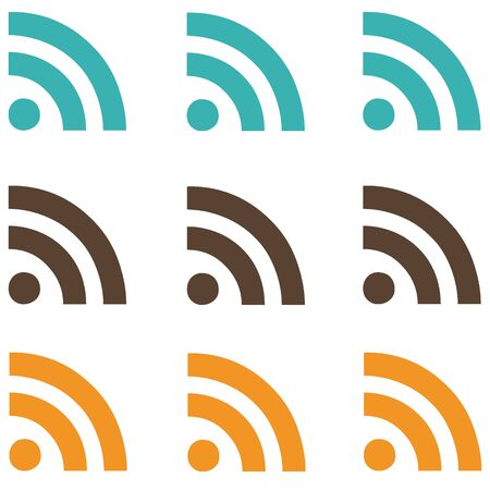 Natural RSS Feeds Stock Photo