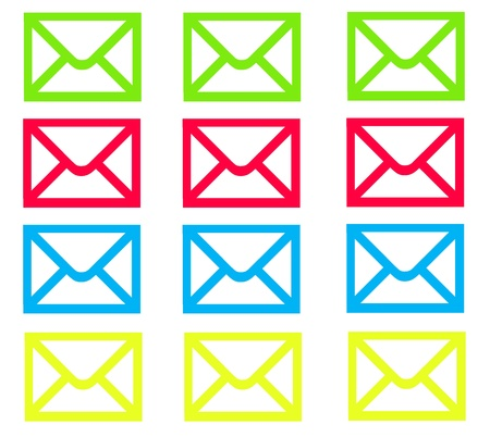 Fluorescent Email Envelopes Stock fotó - 14872580