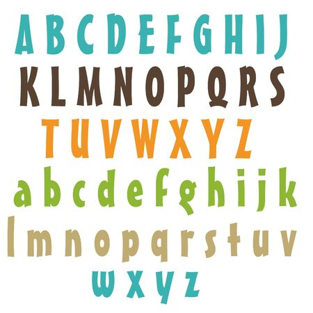 Clean Alphabet Set - Natural