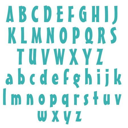Clean Alphabet Set - Blue