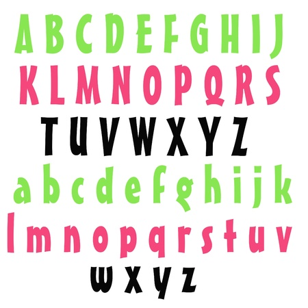 Clean Alphabet Set - Watermelon