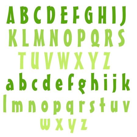 Clean Alphabet Set - Greens Stock fotó - 14872542