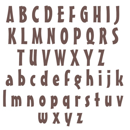 Clean Alphabet Set - Purple